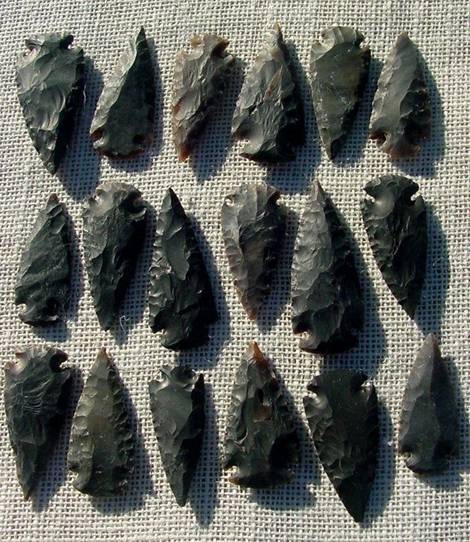 "1 spearhead arrowheads reproduction 2"" inch replica points 2bu21"