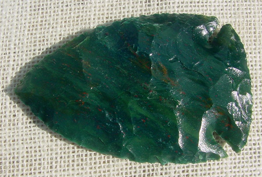 Green Spearheads & Arrowheads