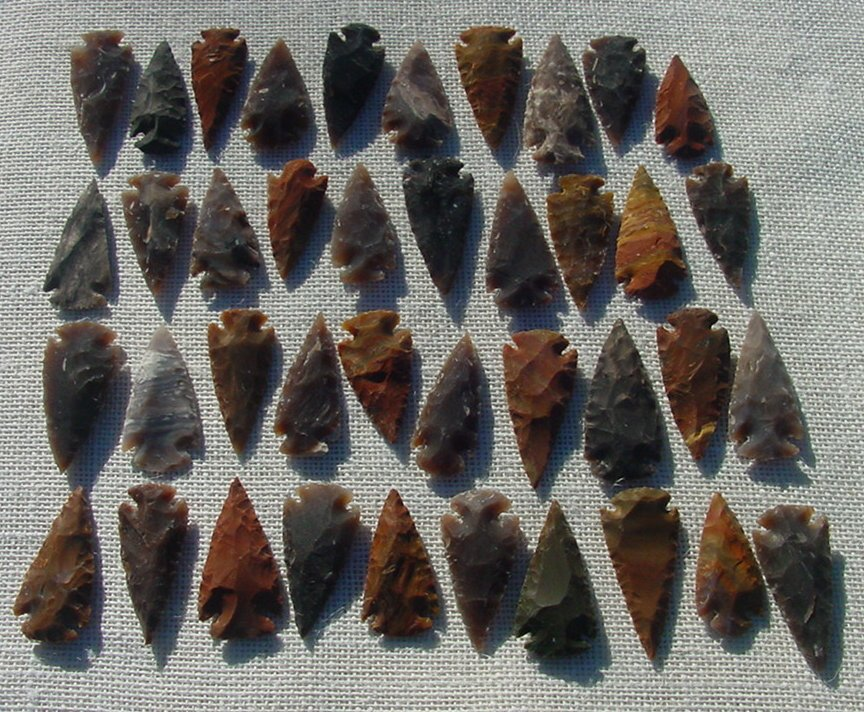 "1spearhead arrowheads reproduction 2"" inch replica points 2bu4"