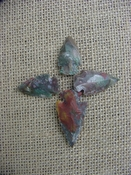 4 Specialty arrowheads reproduction multi colored points k96