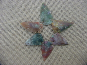 6 special arrowheads reproduction multi colored arrowheads k93