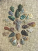 24 bulk arrowheads & 1 cross spearhead jewelry,arts,crafts kx893