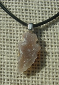 ".99"" druzy arrowhead necklace reproduction drusy crystal na169"