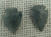 1 pair arrowheads for earrings gray stone replica point sa428