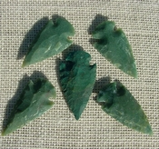 "2"" inch arrowheads bulk 5 pack reproduction arrow points sa575"