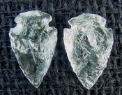 1 pair arrowheads for earrings clear crystal quartz replica cq6