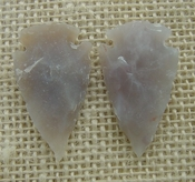 1 pair arrowheads for earrings light stone replica points ae54