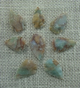 8 pretty arrowheads transparent stone replica arrow heads sp40