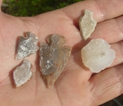 5 druzy arrowheads sparkling drusy crystals arrow heads md56