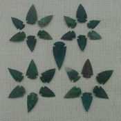 50 bulk arrowheads spearheads stone replica points green sa881