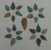 25 bulk arrowheads spearheads natural stone replica points sa843