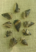 10 stone arrowheads all natural stone replica arrow heads sa553