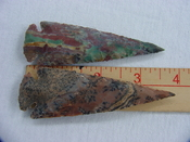 Reproduction spear head spearhead point 3 3/4  inch jasper x491