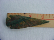 Reproductionspear head spearhead point 3 1/2  inch jasper x436