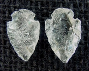 1 pair arrowheads for earrings clear crystal quartz replica cq8