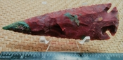 5 inch spearhead reproduction spear point agate or jasper ya374