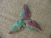 3 special arrowheads reproduction multi colored arrowheads k106