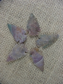 5 special arrowheads reproduction multi colored arrowheads k73