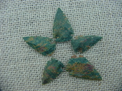 5 special arrowheads reproduction multi colored arrowheads k120