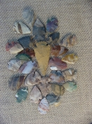 25 pc arrowheads 1 spearhead stone reproduction collection kc31