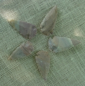 5 stone arrowheads all natural stone replica arrow heads sa767