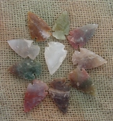 Semi translucent 10 arrowheads reproduction arrowheads ks311