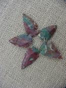4 special arrowheads reproduction multi colored arrowheads k109