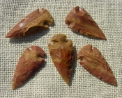 "2"" inch arrowheads bulk 5 pack reproduction arrow points hs15"