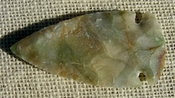 "3.25"" stone spearhead green multi color replica wide point jw45"