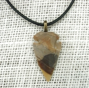 1.49 inch arrowhead necklace reproduction nice markings na180