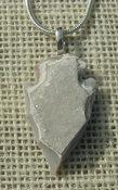 "1.48"" geode arrowhead necklace reproduction drusy crystal na34"