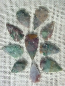10 green with red multi colors reproduction arrowheads ks555