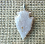 1.46 geode arrowhead necklace replica beautiful crystal na156
