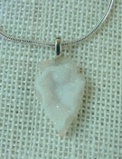 "1.18"" druzy arrowhead necklace reproduction white crystal na39"