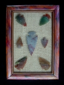 Custom framed arrowhead spearhead replica collection unique fa26