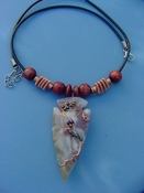 "2 1/4"" arrowhead necklace wire wrapped beautiful replica wrn26"