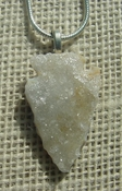 "1.40"" druzzy arrowhead necklace reproduction drusy crystal kd33"