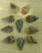 10 stone arrowheads all natural stone replica arrow heads sa528