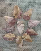 10 arrowheads reproduction reddish brown stripes points ks296