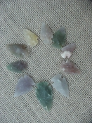 Semi translucent 10 arrowheads reproduction arrowheads k68