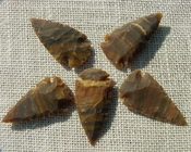 "2"" inch arrowheads bulk 5 pack reproduction arrow points hs18"