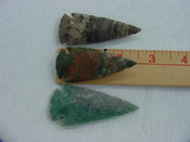 3 replica arrowheads jasper arrow heads 2 1/2 inch xcy112
