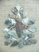 25 pc arrowheads 1 spearhead stone reproduction collection ks131