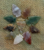 Semi translucent 10 arrowheads reproduction arrowheads ks308