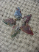 5 special arrowheads reproduction multi colored arrowheads k83