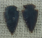 1 pair arrowheads for earrings stone brown replica point ae26