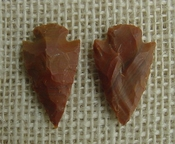 1 pair arrowheads for earrings stone brown replica point ae79