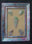 Custom framed arrowhead spearhead replica collection pastel pf9