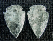 1 pair arrowheads for earrings clear crystal quartz replica cq28