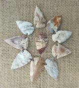 10 arrowheads reproduction specialty beautiful arrowheads ks178